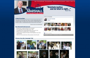 ElectBobMarshall.com Website Development Project