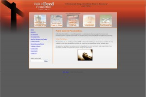 Faith In Deed Foundation Christian Website Design
