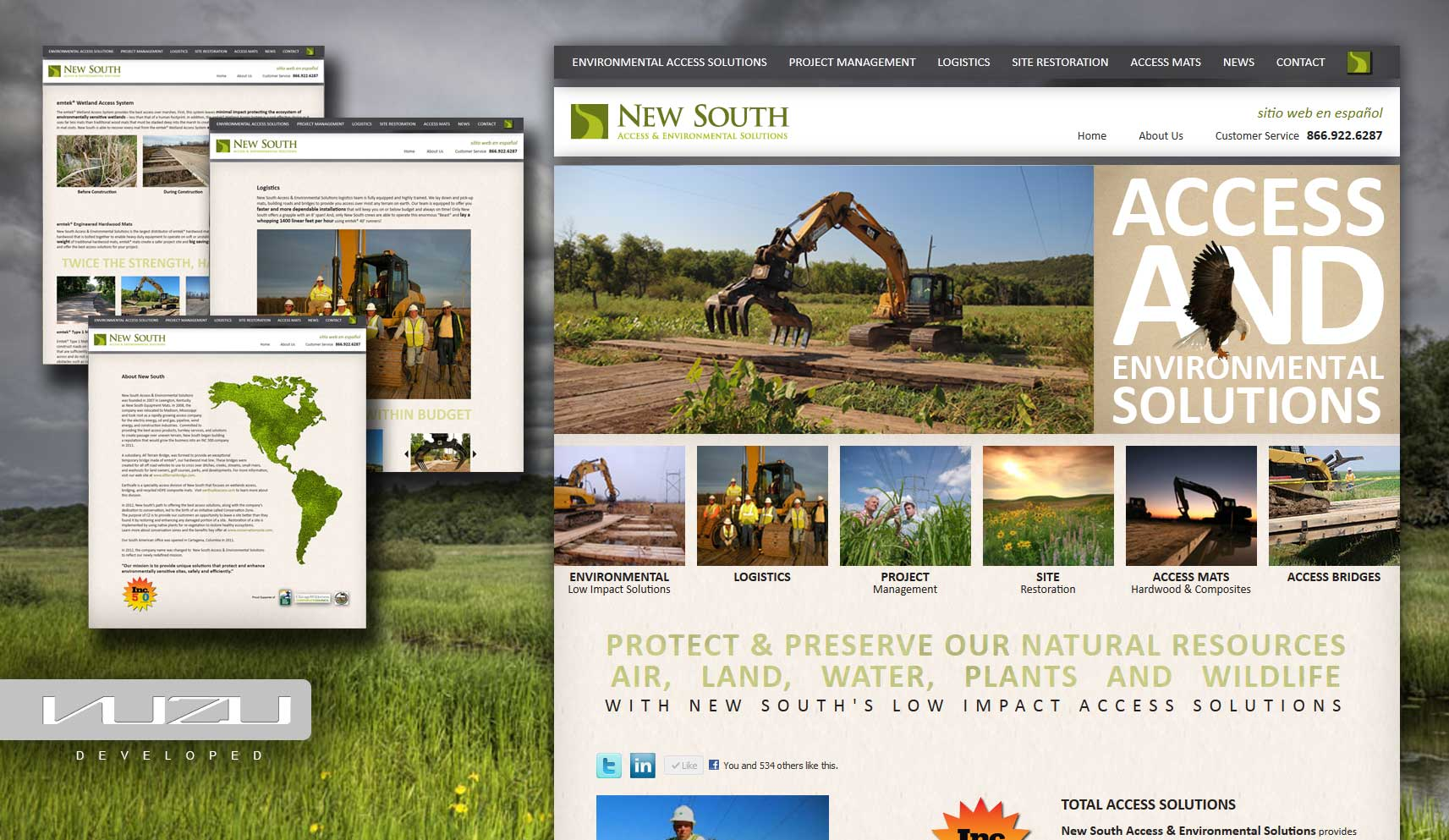 New South Environmental Website development project