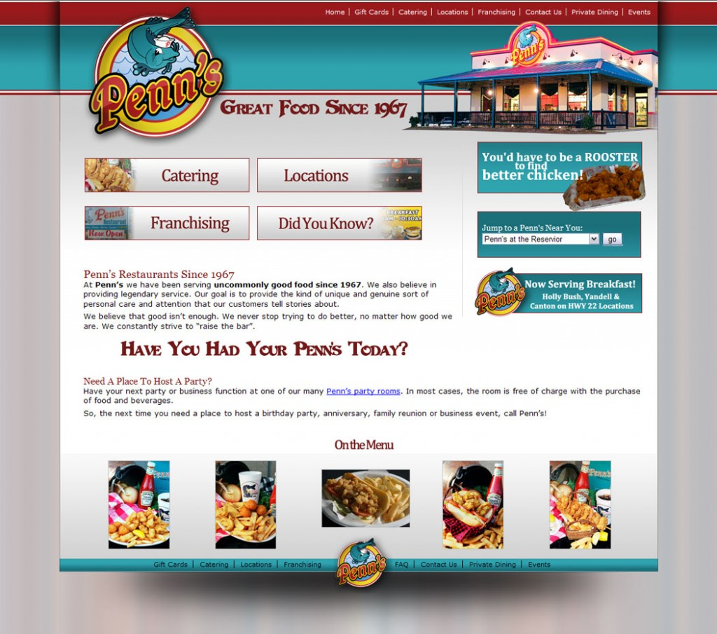 Penns Restaurant Website Design & Marketing