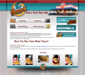 Penn's Restaurant Website Design