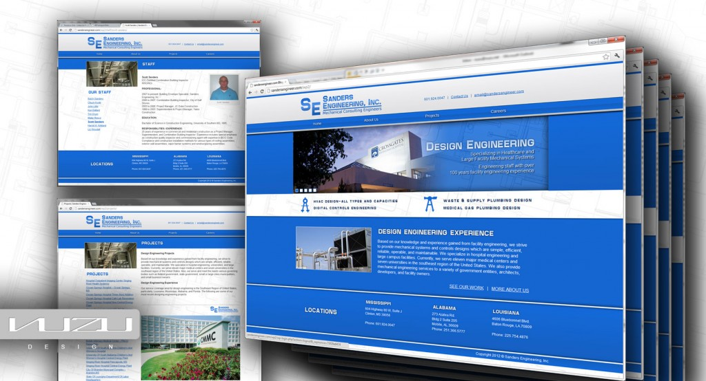 Sanders Engineering Website Development Project