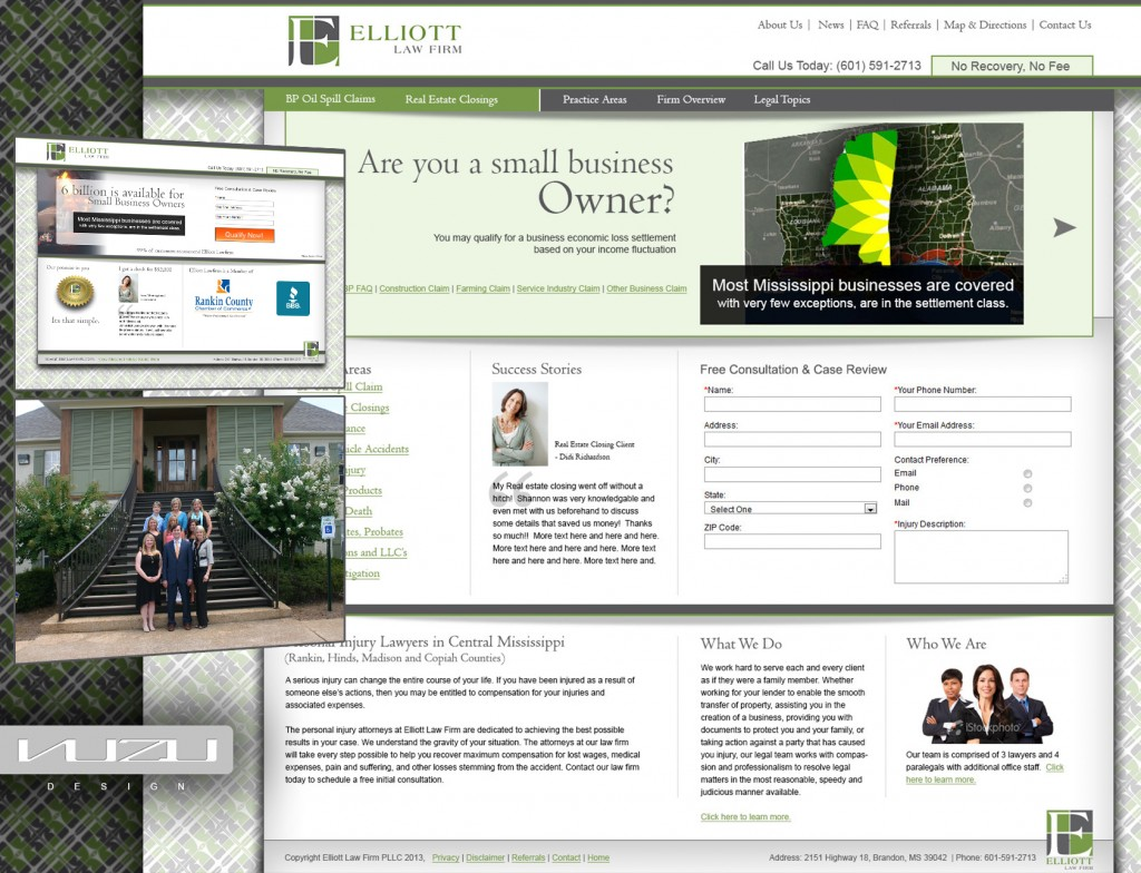 Elliott Law Firm web design & Internet Marketing project