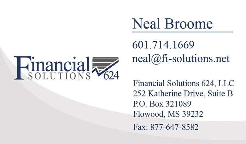 Financial Solutions Business Card Designer