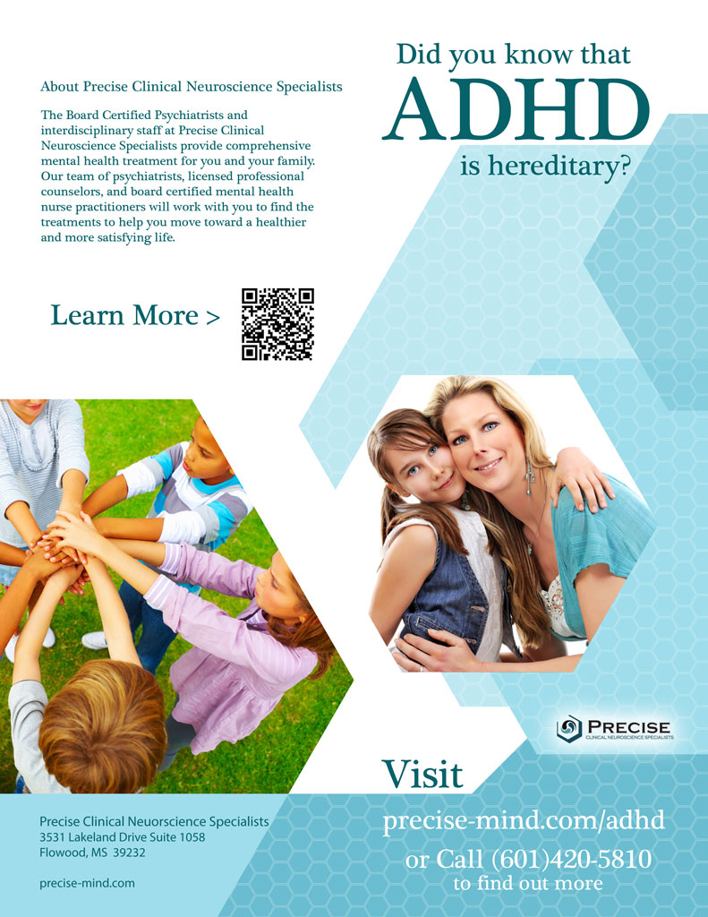 ADHD Adolescent Bifold Flyer Design