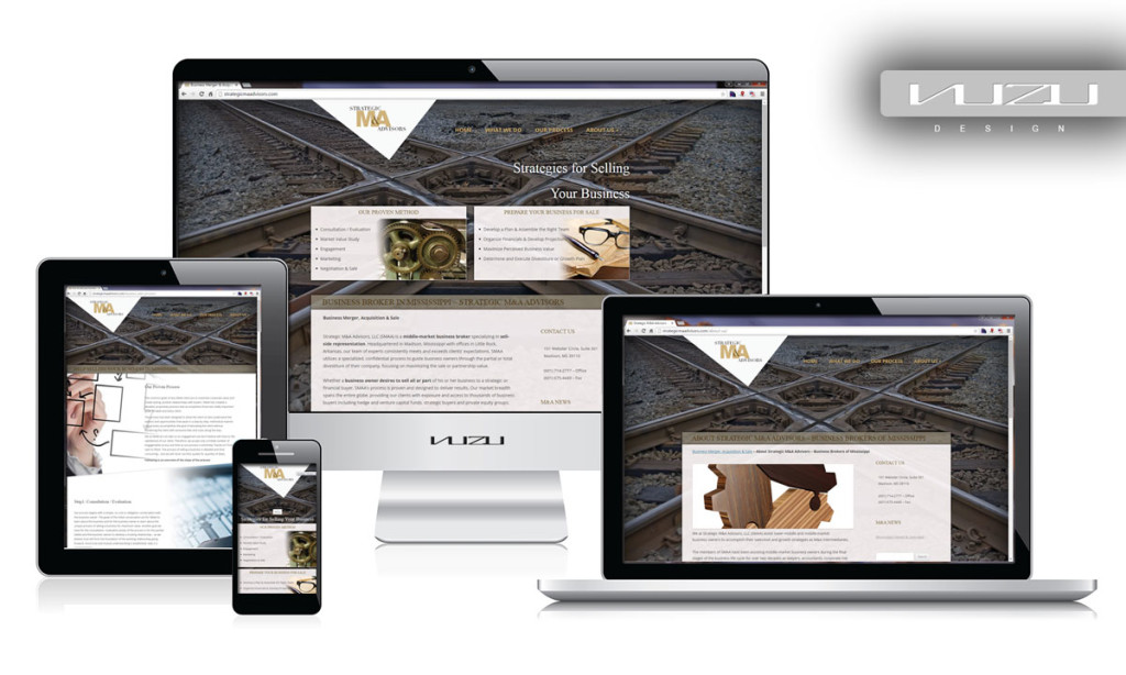 Strategic M&A Advisors - Business Website design.