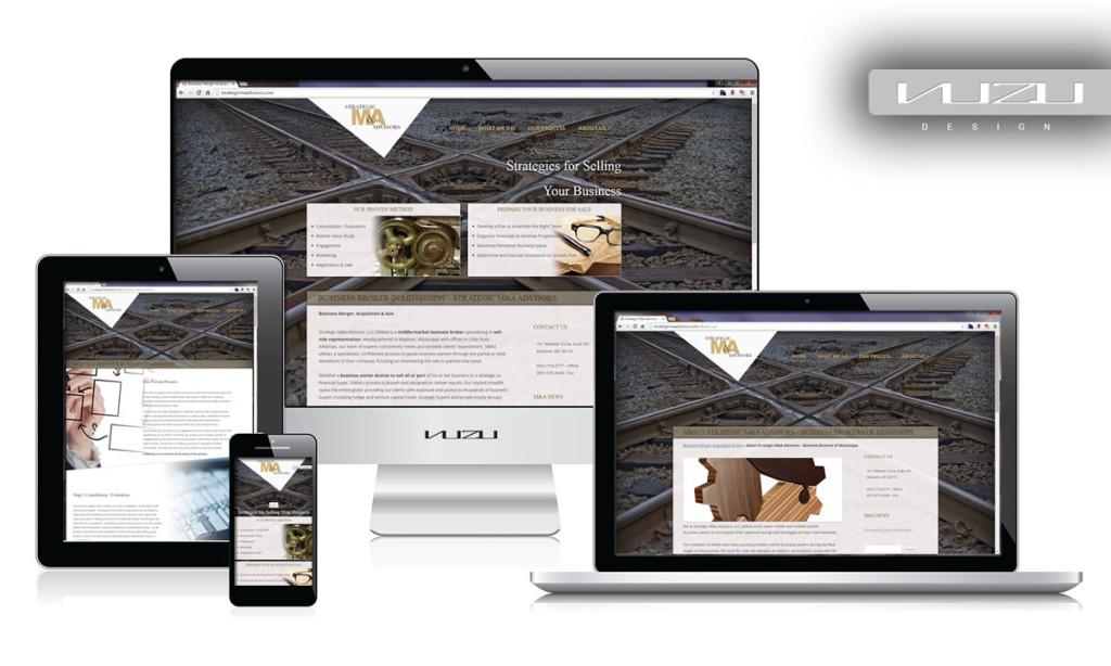 Strategic M&A Advisors - Business Website design.